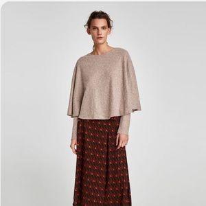 Zara poncho/cape sweater. Brand new